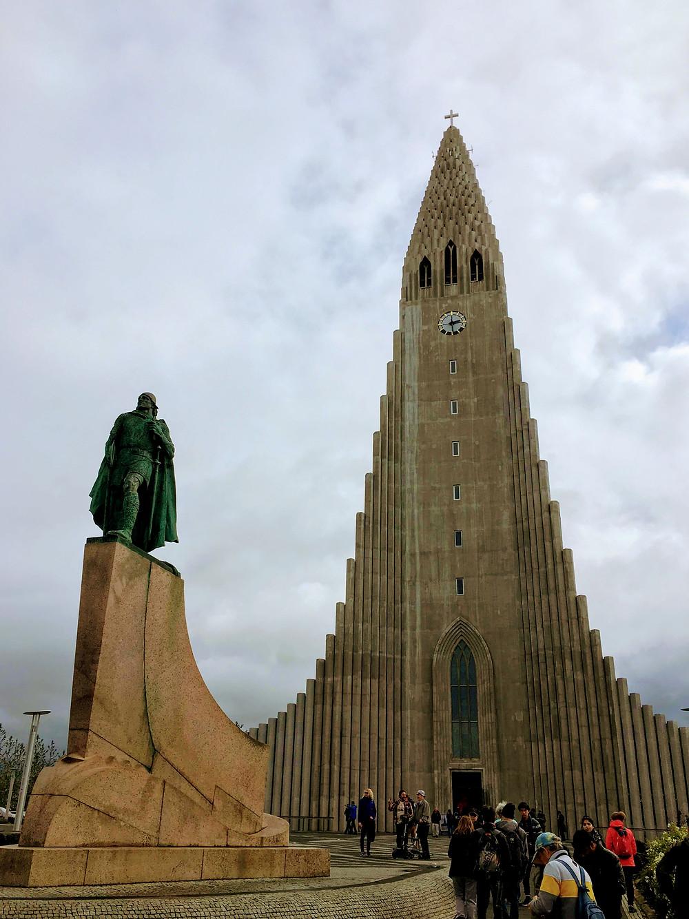 statue of lief eriksson, iceland