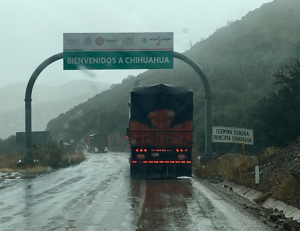 Road Signs in Chihuahua, Mexico