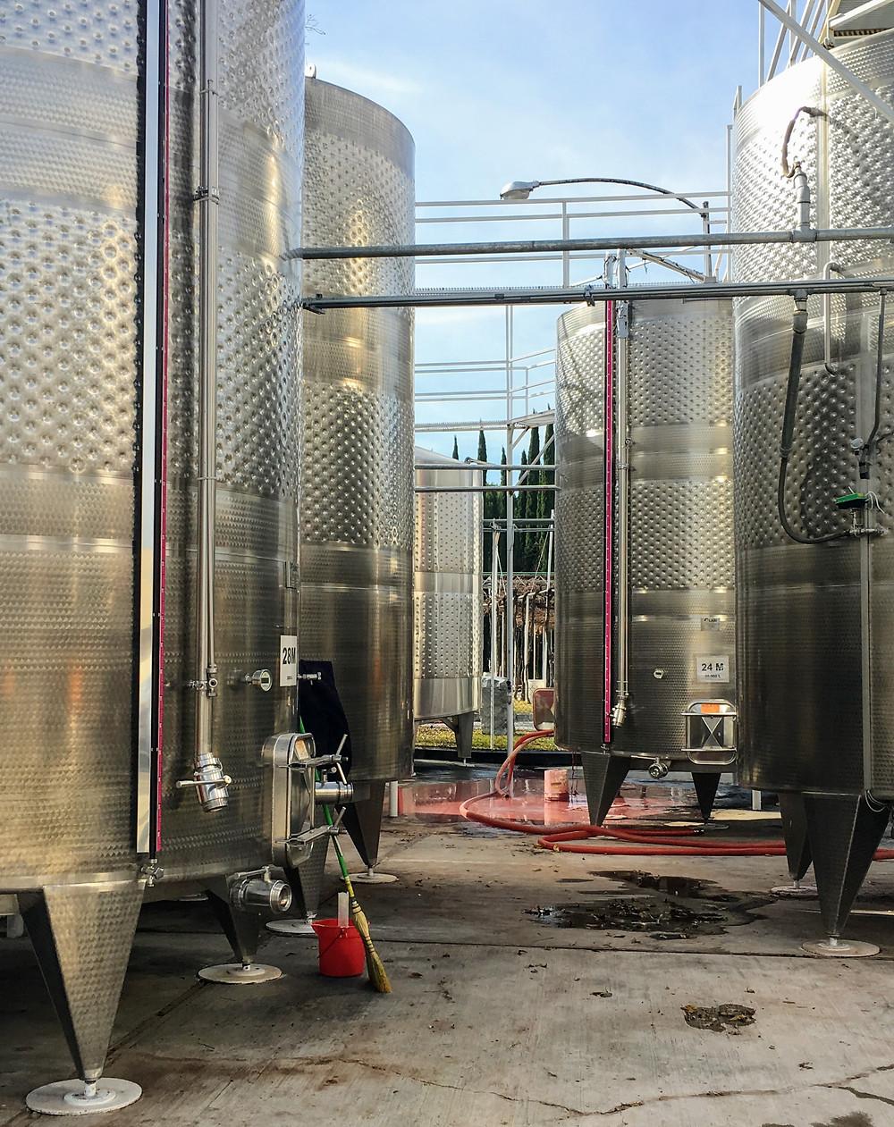 Casa Madero, vats at the winery, Coahuila, Mexico