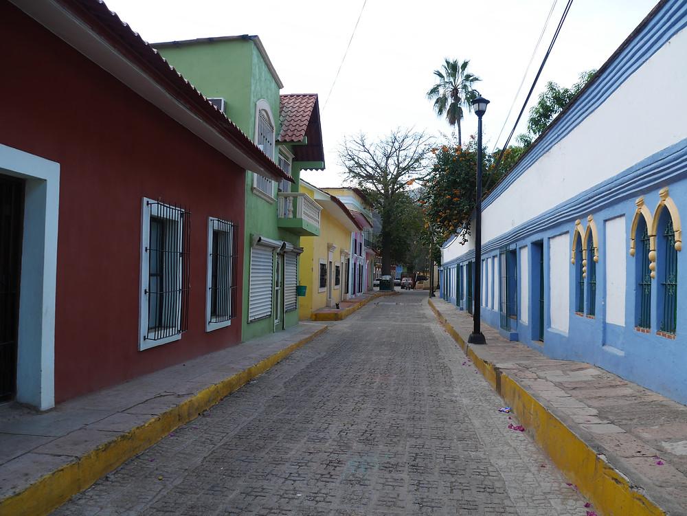 Batopilas, Chihuahua, Mexico colorful buildings