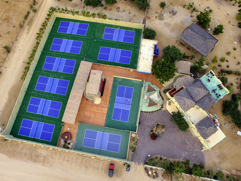 Aerial drone photography, pickleball courts hoverhigher hoverhigher.com coffeys2go