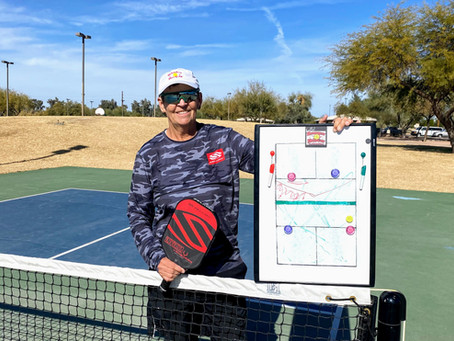A Pickleball Lesson With a Pro - 4th in a Series of 12  Helle Sparre