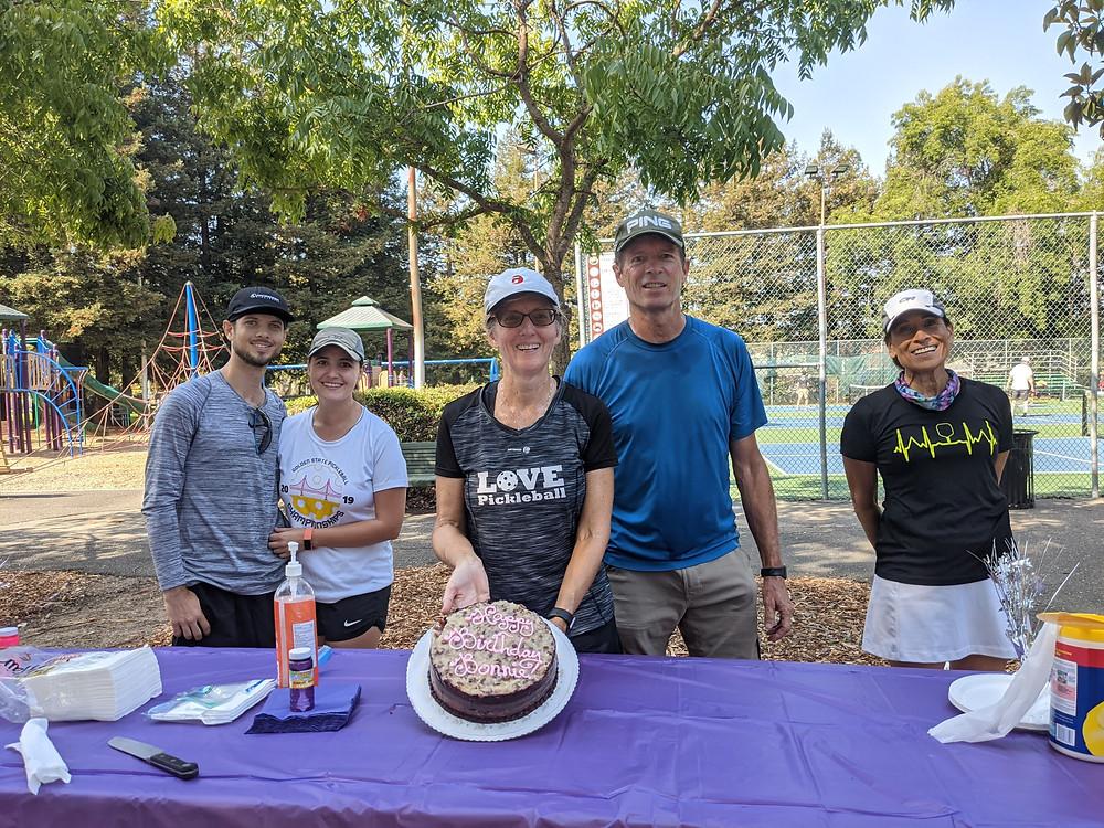 Birthday party cake pickleball friends park