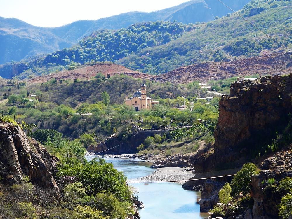 Satevo, San Ignacio Mission, Mexico beautiful view canyon river