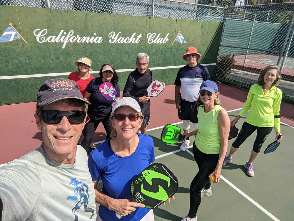 California Yacht Club in Marina del Rey, CA Pickleball Players on court