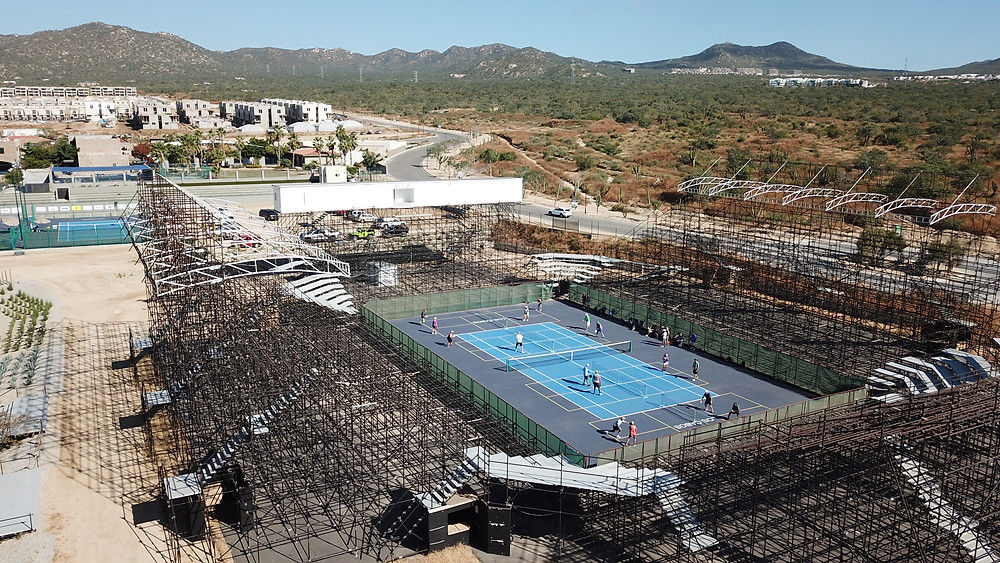 Colegio Del Mar Sports Complex, Mexico pickleball aerial photography drone hoverhigher hoverhigher.com