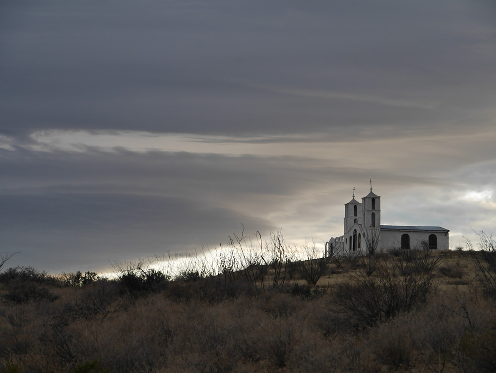 scenic view of Chapel in Casas Grandes, Chihuahua, Mexico