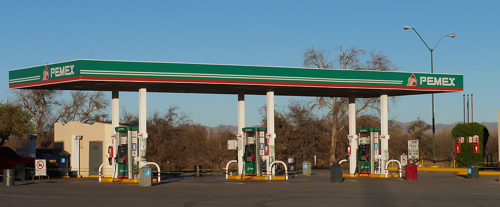 Pemex gas station no fuel Casas Grandes, Chihuahua, Mexico