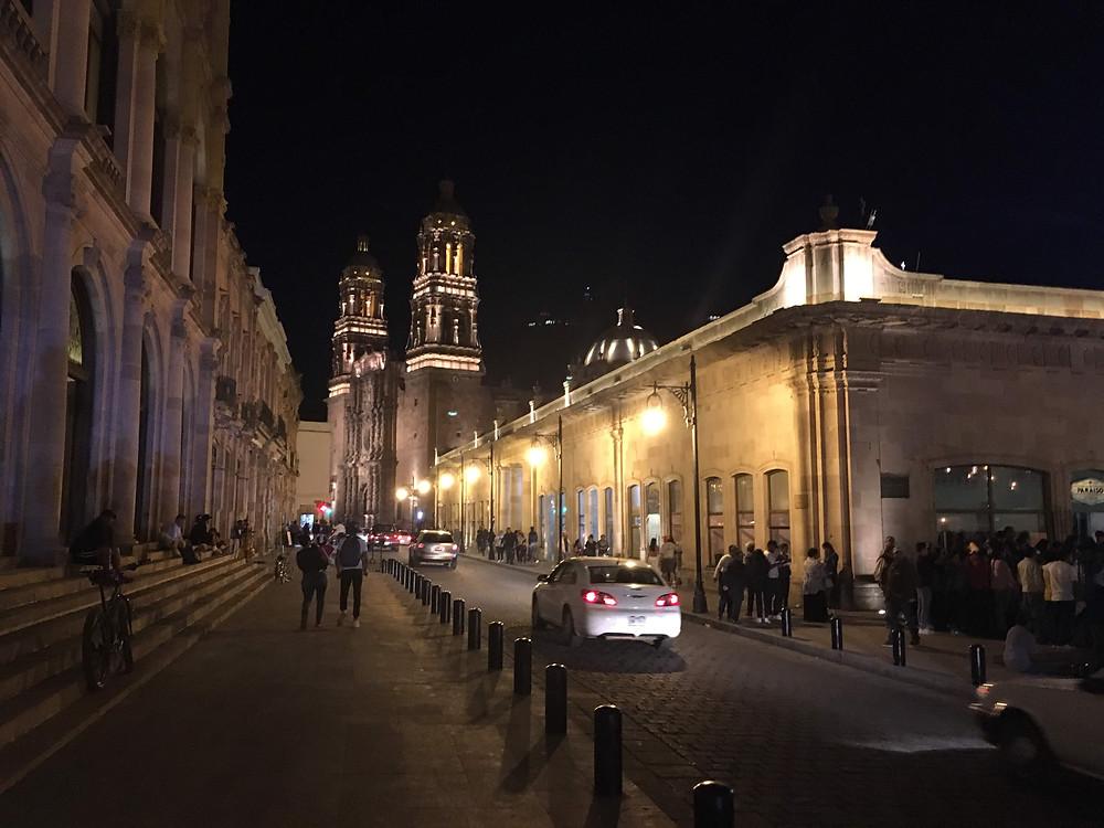 Zacatecas nighttime city Mexico