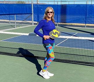 Fun Tetris Tights for pickleball tennis