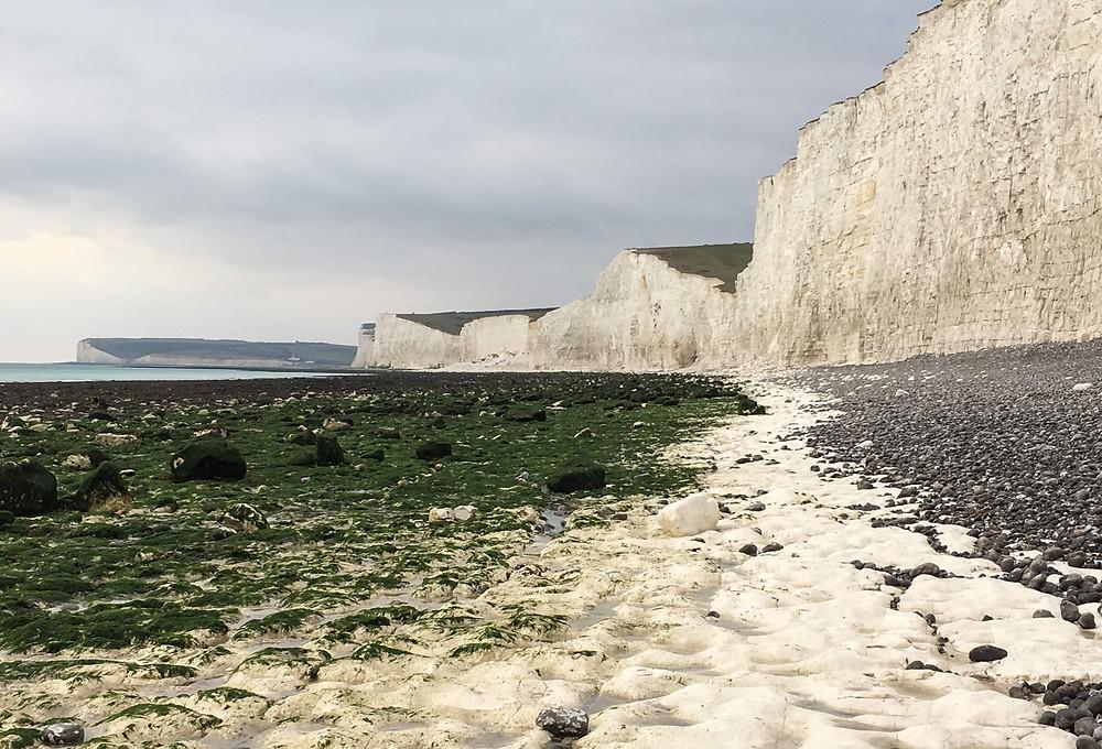Seven Sisters Chalk Cliffs Birling Gap, UK, ocean scenery