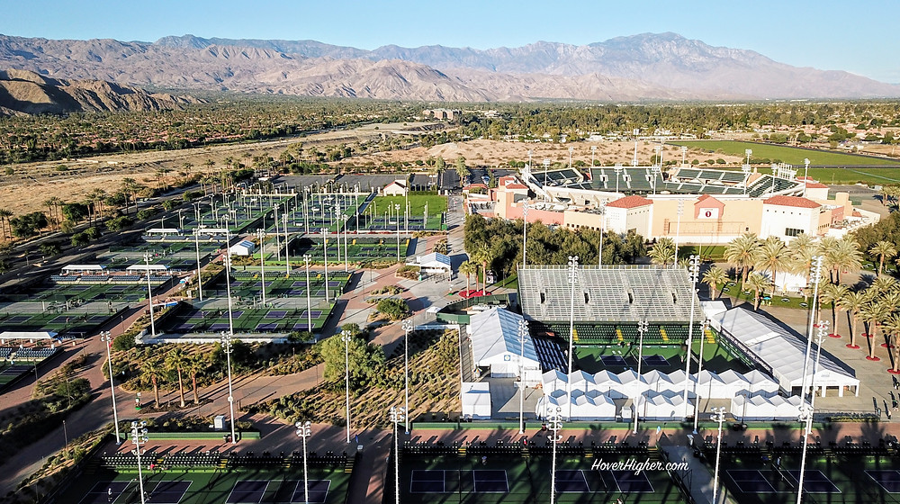 Indian Wells, CA Tennis Garden converted to pickleball courts