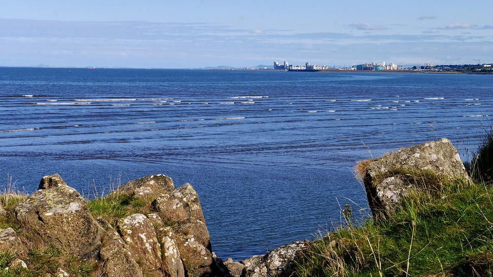 Cramond Island, Edinburgh, Scotland, Ocean beautiful view
