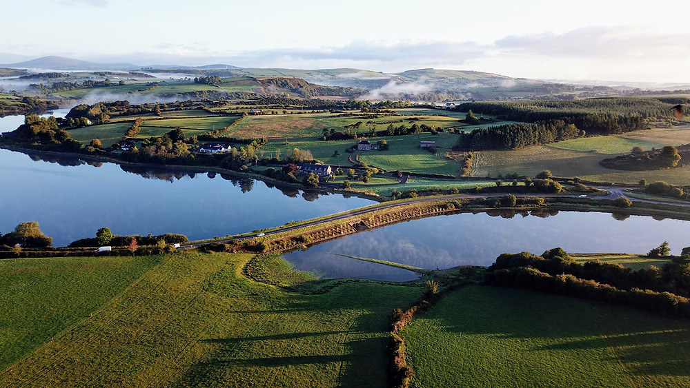 Aerial drone view of Macroom, Ireland photography hoverhigher