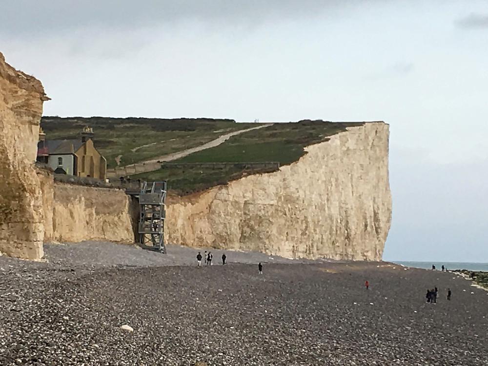 Birling Gap Chalk Cliff UK ocean scenic