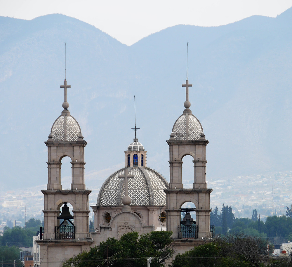 Saltillo, Coahuila, Mexico cathedral church beautiful view mountains