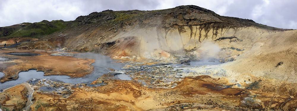 Krýsuvík - Geothermal Area with Hot Springs Iceland