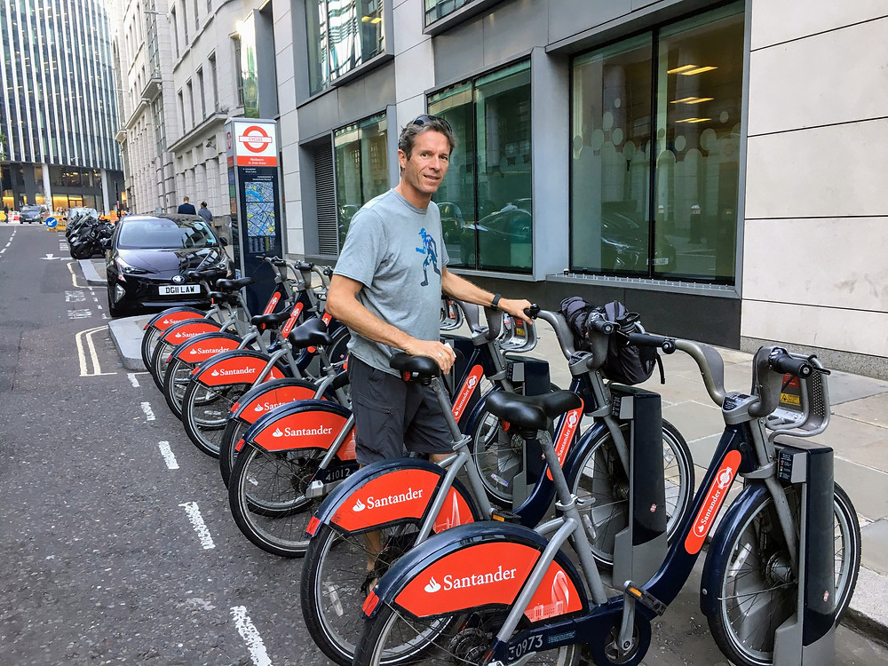 London Santander biking bikes