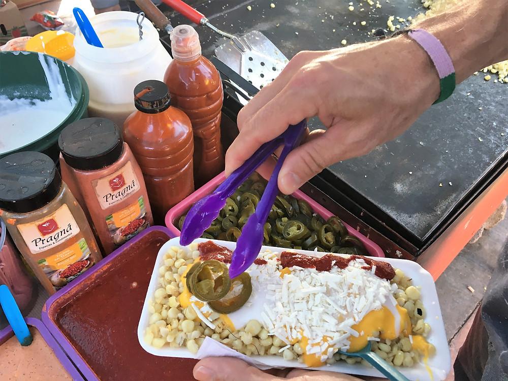 arteaga street vendor elote Mexico