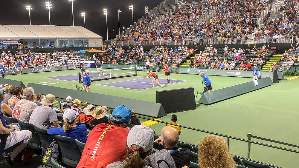 HoverHigher.com Coffeys2Go Bonnie Ky Coffey Pet sitting sitters Drone photo photography Nomads Pickleball Courts  Nationals Tournament Margaritaville Indian Wells Finals Match Center Court