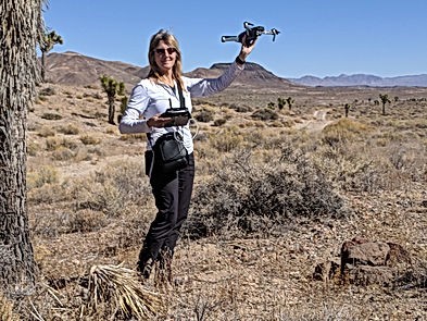 Bonnie with drone in desert.jpg