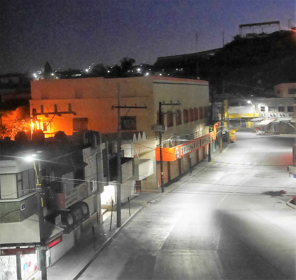 Parral, Chihuahua Mexico at night