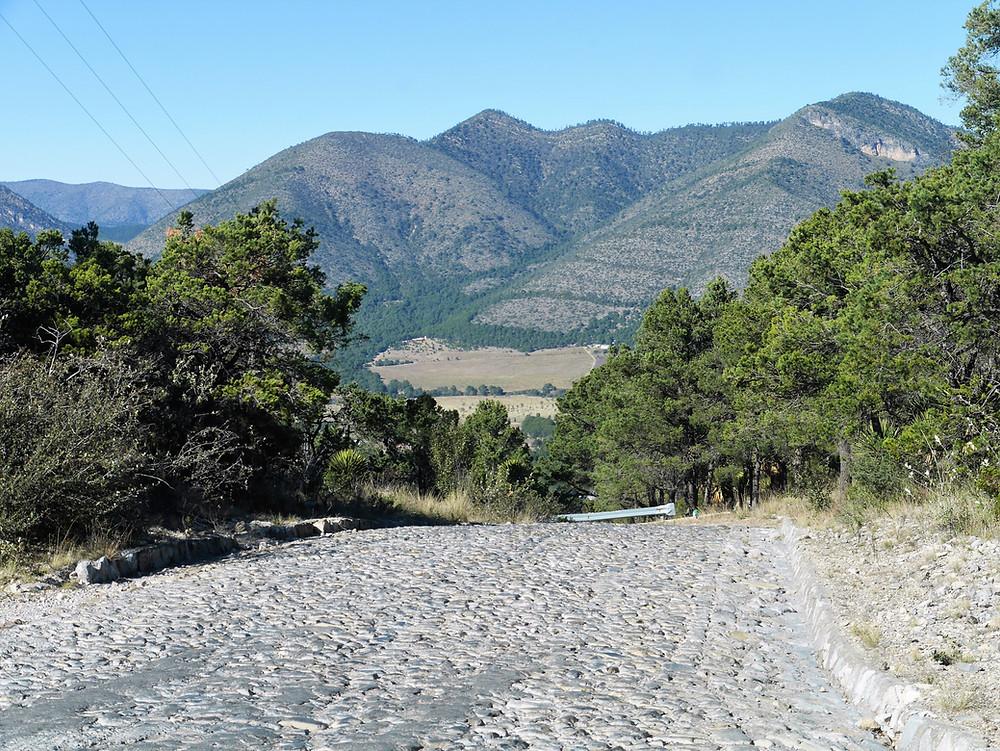 Saltillo area southeast of arteaga mountains in Mexico