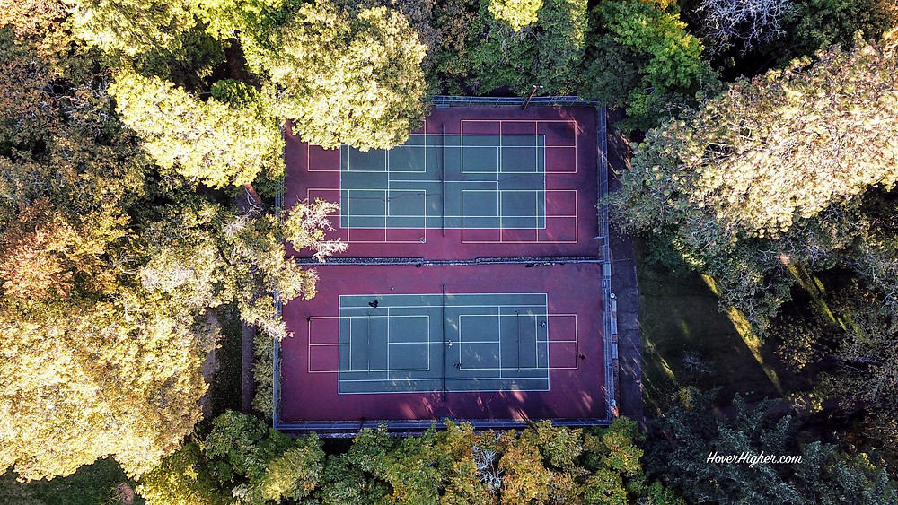 Ashland OR Lithia Park Drone Photo Shot from above HoverHigher.com