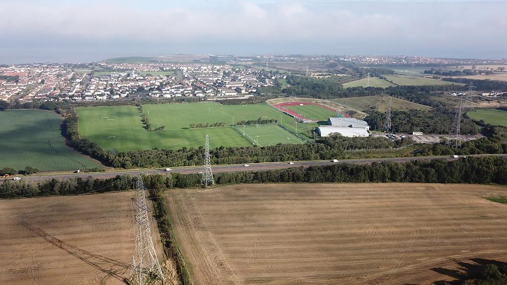 Tranent, Scotland, drone photography aerial view hoverhigher DJIMavicPro