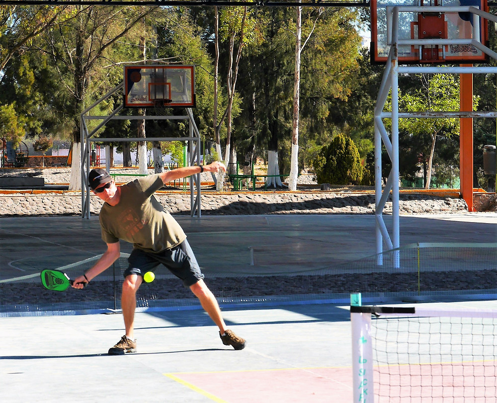 pickleball court playing