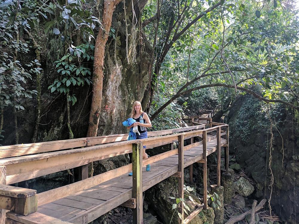 Tamasopo, San Luis Potosi Mexico forest bridge puente de dios