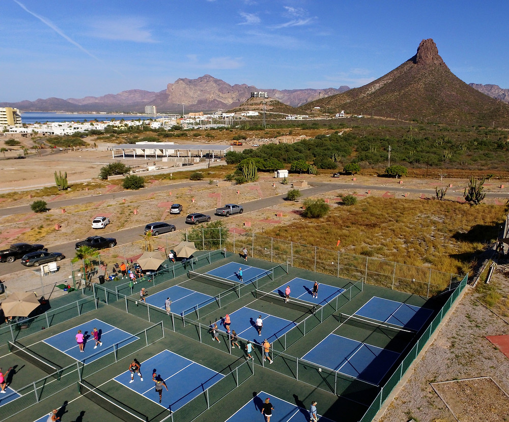 San Carlos Nuevo Guaymas, Mexico, Pickleball, Courts, Drone photography aerial view hoverhigher.com hoverhigher