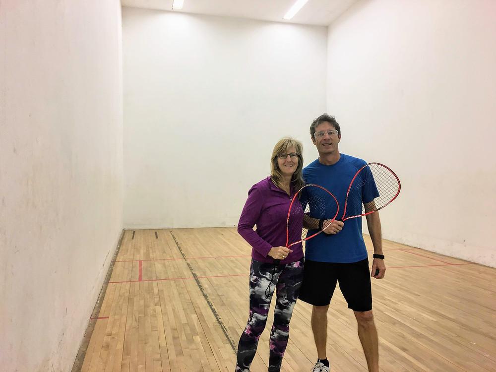 racquetball indoor court sport