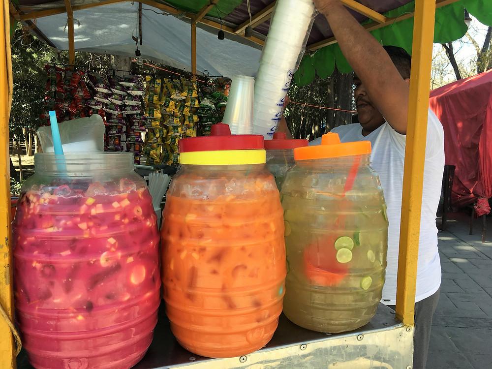 Arteaga street vendor fruit juice Mexico