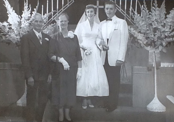 vintage photograph wedding 1955