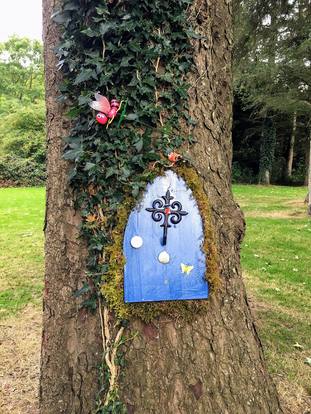 Fairy Garden Tidy Town, riverside park Ireland tree display