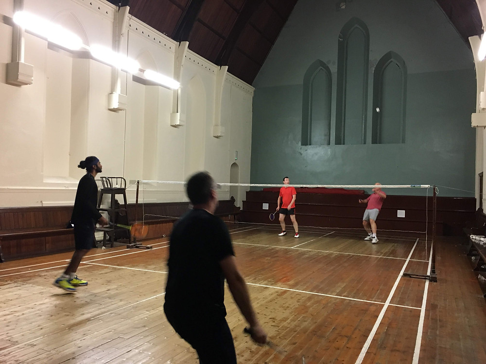 Badminton in an old church Ireland waterford