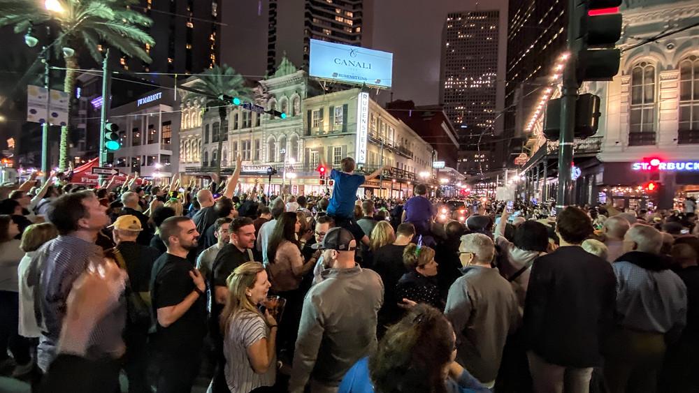 Mardi Gras crowd parade New Orleans Louisiana LA Coffeys2Go