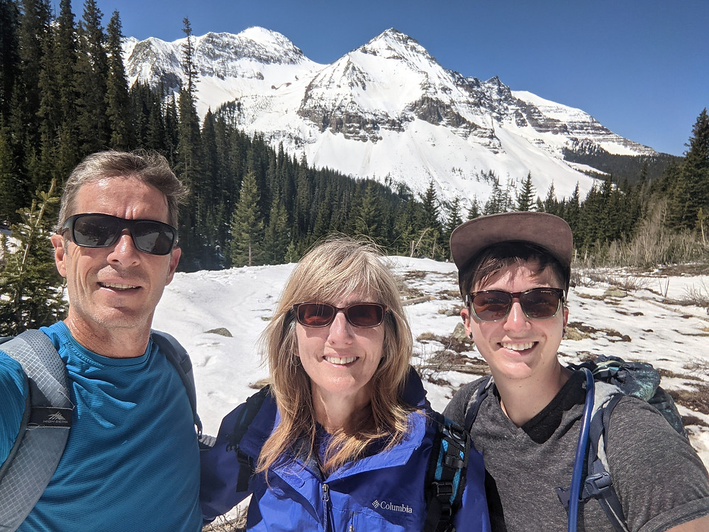 Uncompahgre National Forest mountains Hope Lake Trail with snow in late May