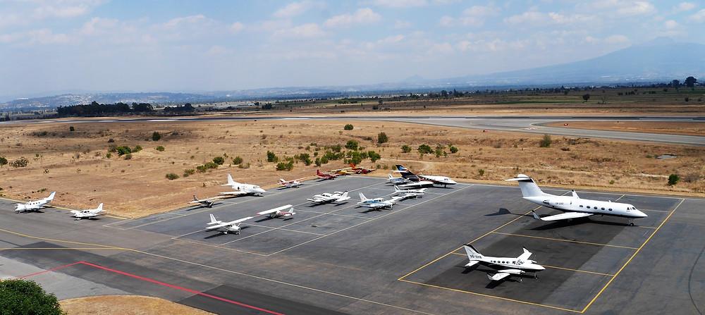 Puebla airport tarmac