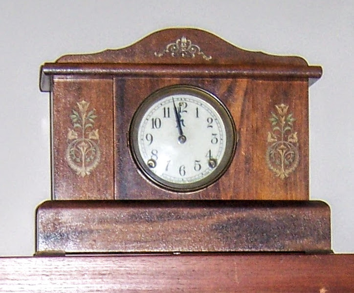 Antique clock waiting for time to play pickleball