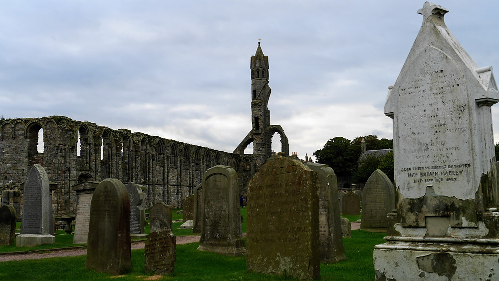 St. Andrews Cathedral, graveyard church Scotland