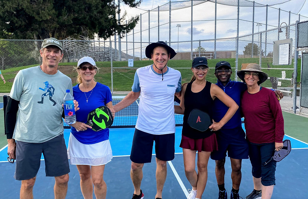 San Gorgonio Park in San Clemente, CA Pickleball players on court