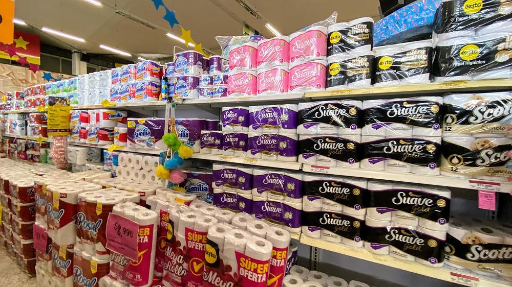 Medellin, grocery store, supplies, COVID-19, Coronavirus,  stockpile, HoverHigher, Coffeys2Go, photo, shot, business
