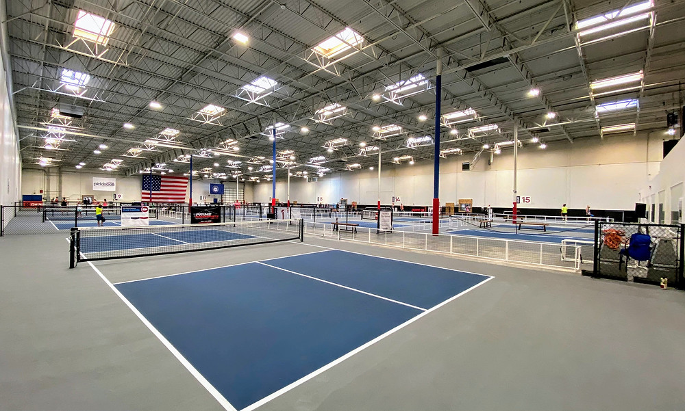 Club Pickleball USA indoor courts in a shopping mall in Orem, UT