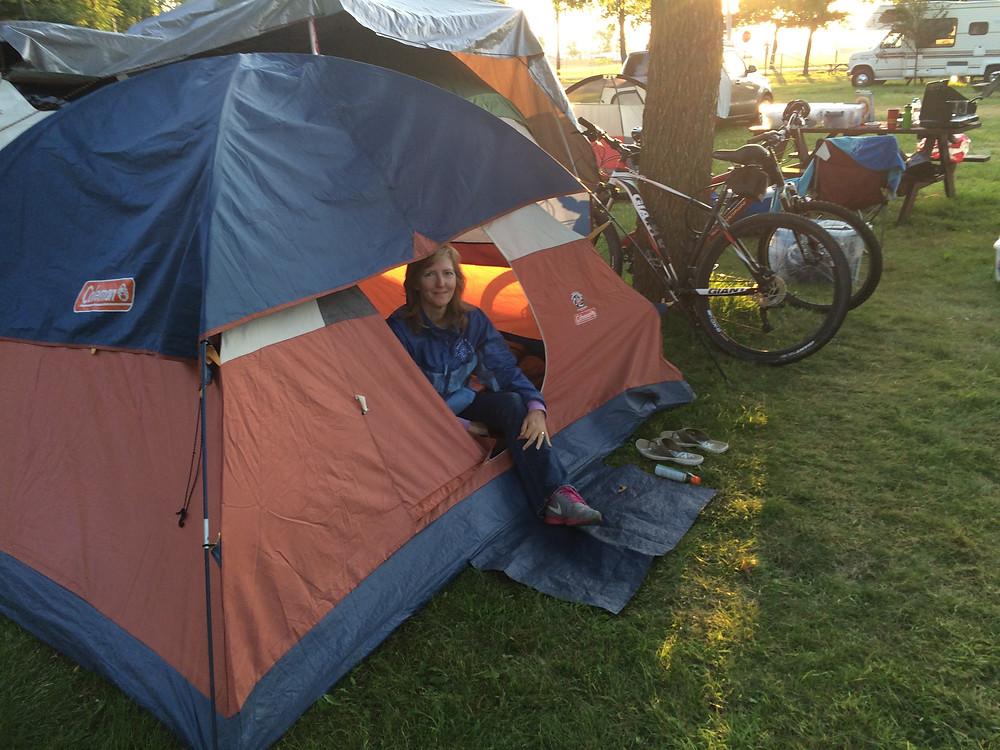 Tent camping at Osh Kosh