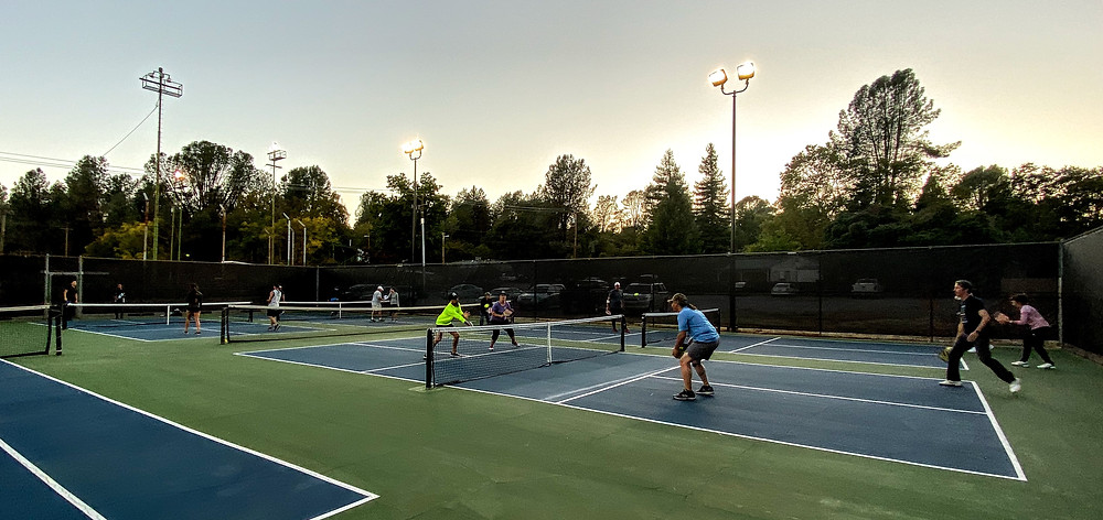 Shasta Lake CA City Park Pickleball Lights Lighted Courts Coffeys2go