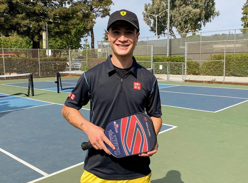Caden Nemoff professional pickleball player gives lesson