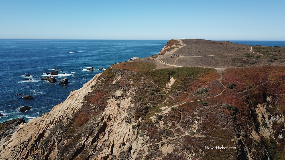 Bodega Bay Head view drone photography photographer photo HoverHigher Bonnie Coffey ocean colorful cliffs coast