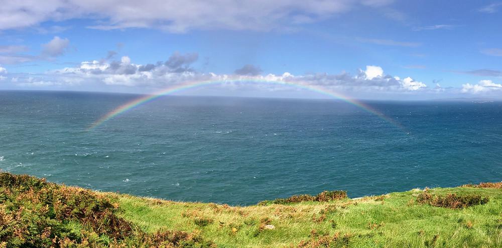 Ocean rainbow Dingle Peninsula Ireland